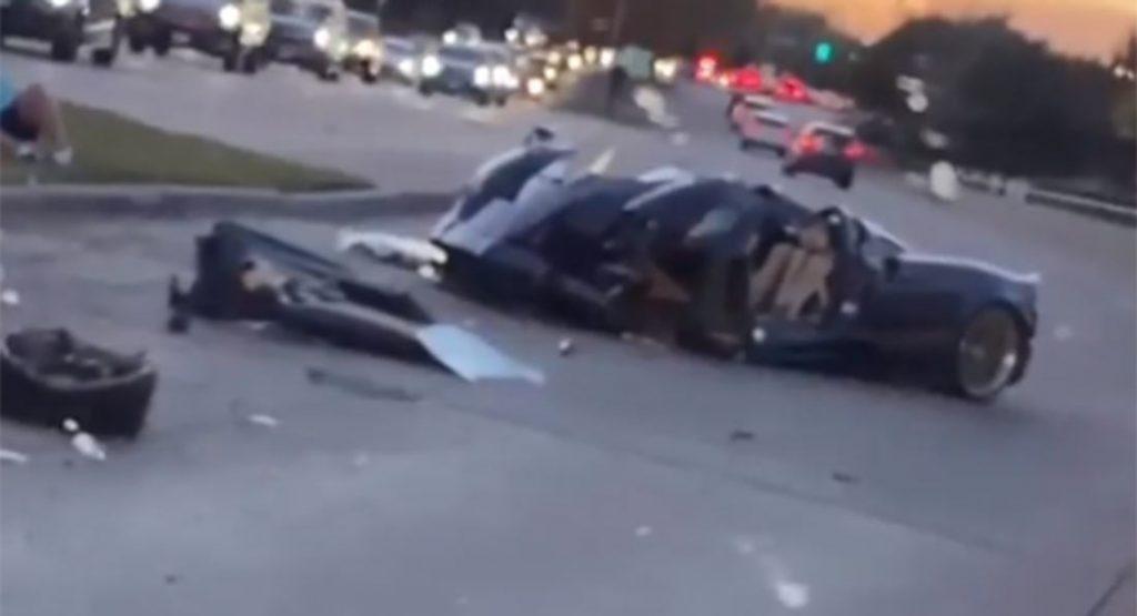 Huayra Roadster Crash