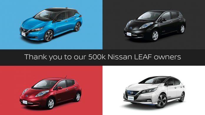 Nissan Leaf 500.000 units